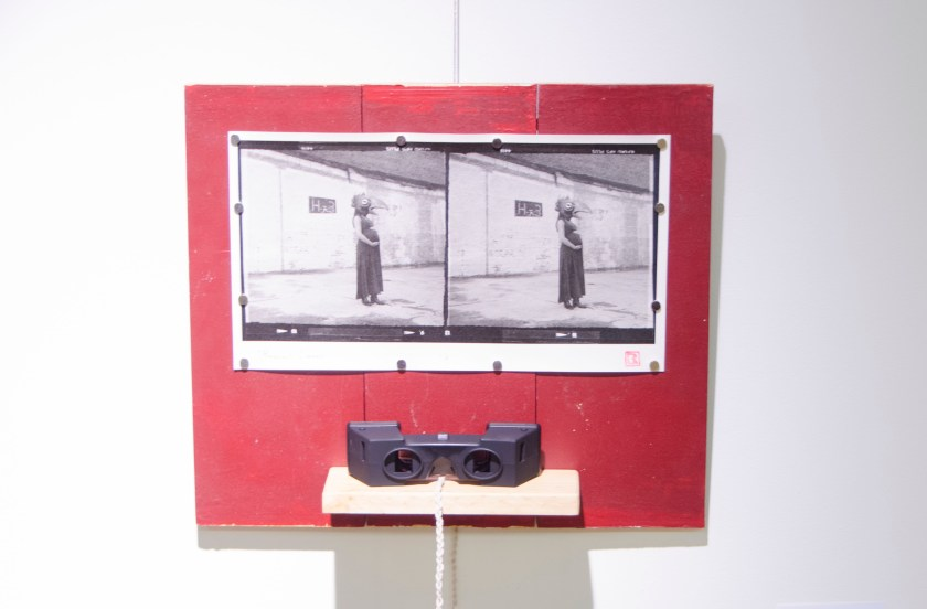 """Pregnant Dreams"" Brian Rowe Photo, wood, and viewer"