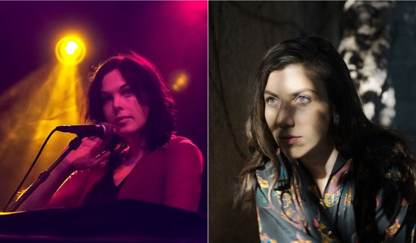Image: A side by side portrait of Outer Ear Residency artists Olivia Block (left) and Julia Holter (right). Photos by Ed Jansen; Tonje Thilesen. Image courtesy of Experimental Sound Studio.