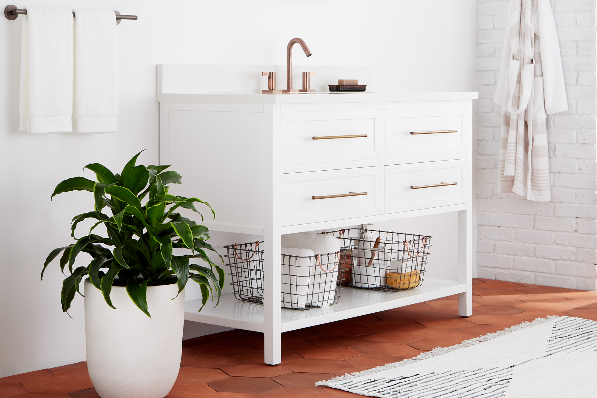 sixtysix signature hardware white room sink cabinet