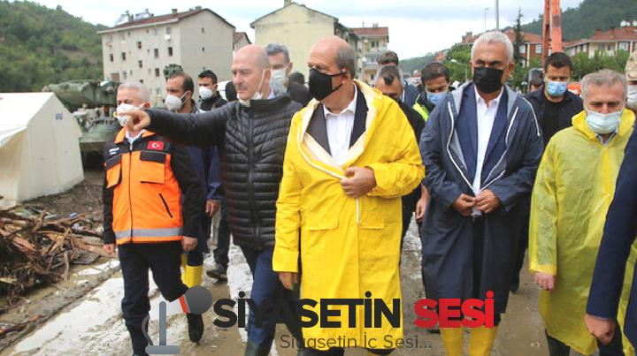 Kktc cumhurbaşkanı tatar'dan selin vurduğu bozkurt'a 'geçmiş olsun' ziyareti