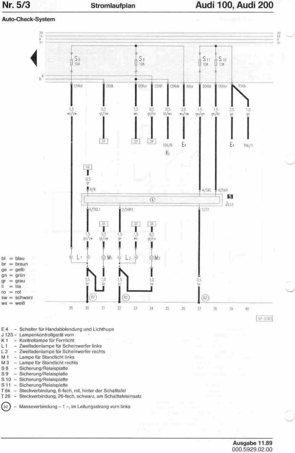 medium resolution of audi 100 200 factory wiring diagrams audi 200 wiring diagram