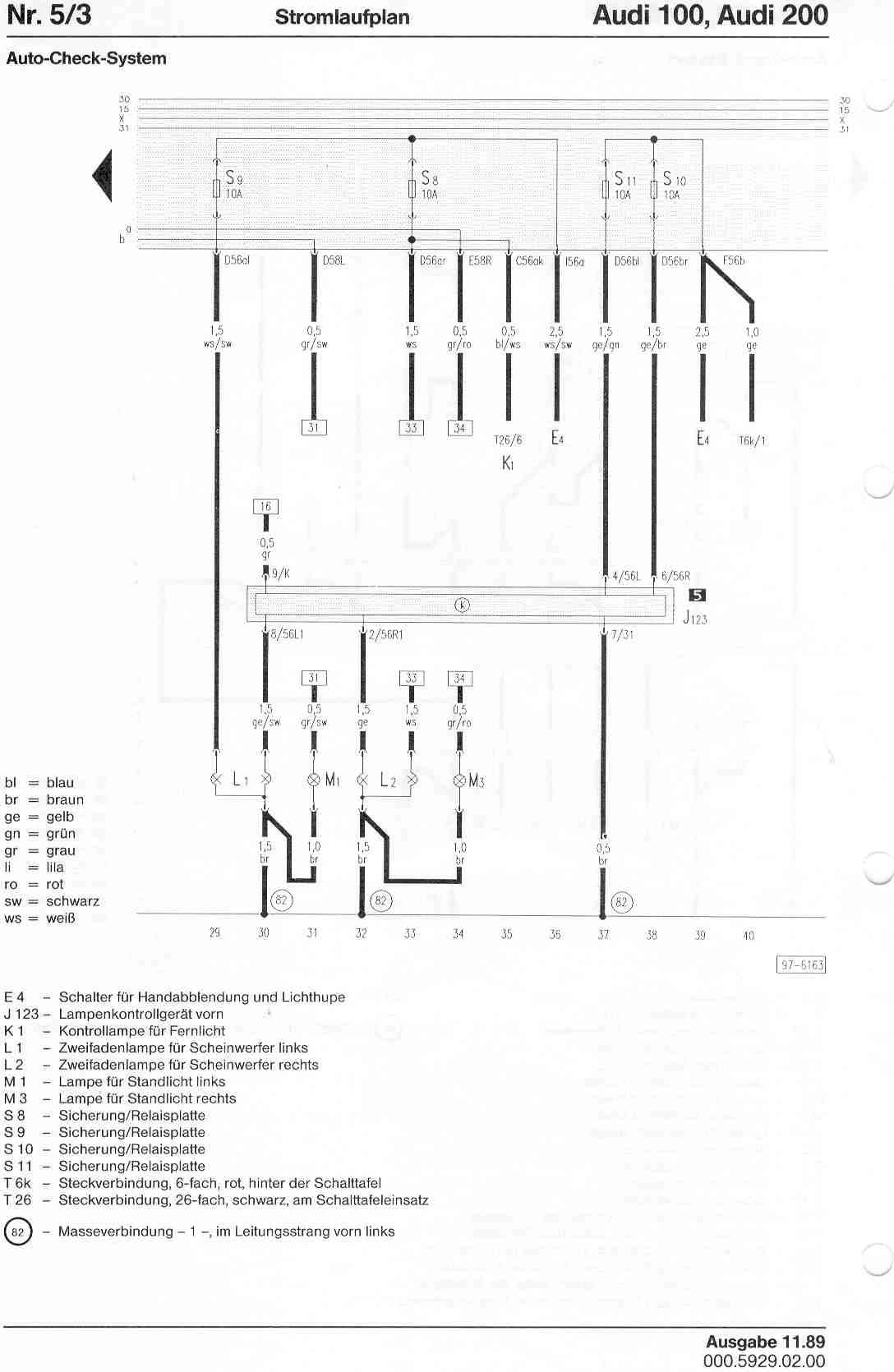 hight resolution of audi 100 200 factory wiring diagrams audi 200 wiring diagram