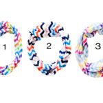 Custom Spring Rainbow Colored Chevron Pattern Infinity Loop Scarves: Group Shot