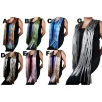 Women's Custom Pattern Light Weight Colored Netting Sheen Fashion Scarves: Group Shot