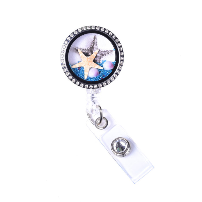 Sea Life Retractable ID Badge Reel Sizzle City ID Badge Holders Starfish