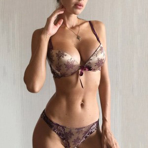 Luxury Push Up Bra Panties Sets with Bow