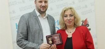 Главный редактор «Казанских ведомостей» Венера Якупова награждена медалью «100 лет Союзу журналистов России»