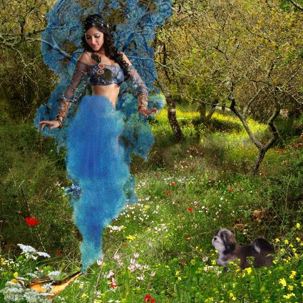 A sensual genie appeared, and offered to grant the explorers a wish each for saving her.