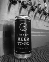 A filled crowler can