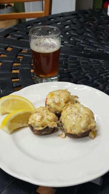 Portabello Mushrooms with Crab Dip