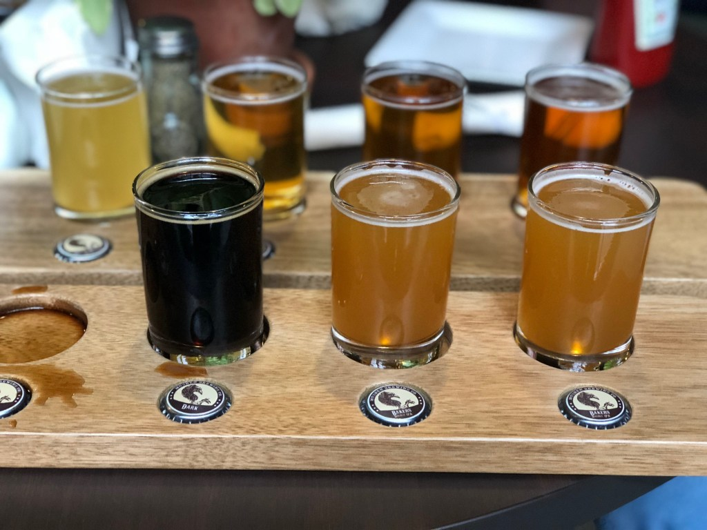 A Flight of Beers at Mudhen Brewing Company, Wildwood, Cape May County