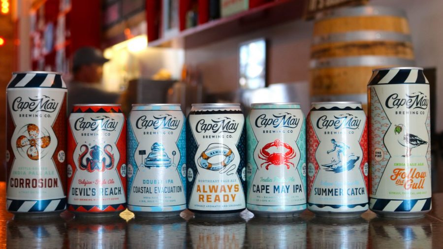 Some of the beers available from Cape May Brewing Co.