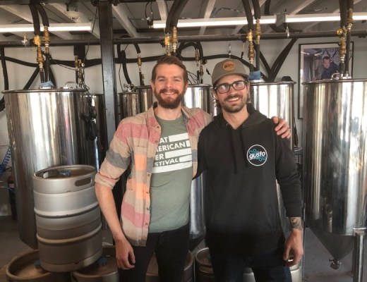 Owner Zack Pashley and Head Brewer Dan Petela of Gusto Brewing Co. Cape May County