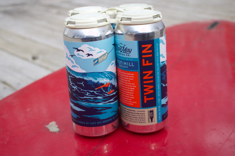 Twin Fin Collaboration Beer from Cape May Brewing Company and Iron Hill Brewery 16oz Pounder Beer Can