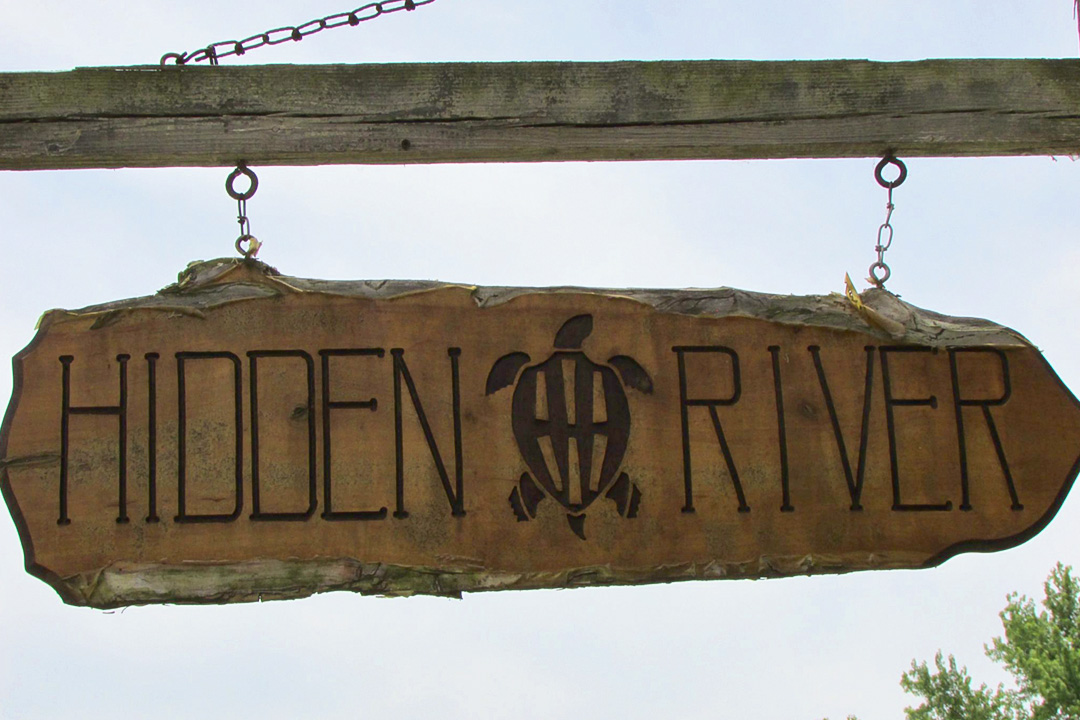 Hidden River Brewing Company Sign