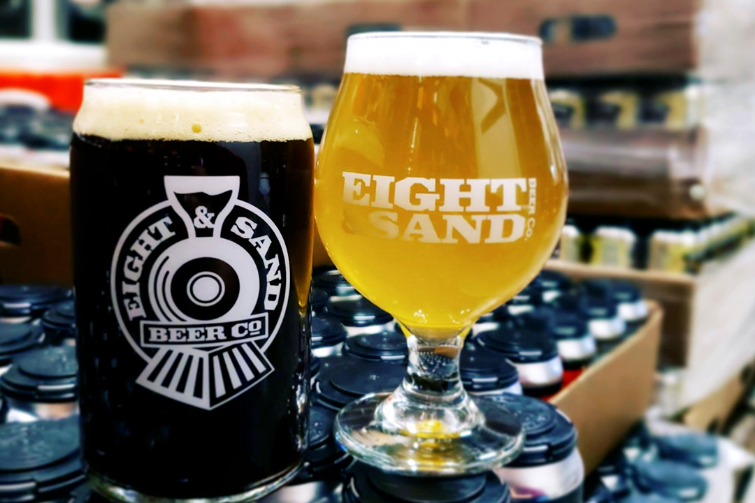 Eight & Sand Brewery Glasses