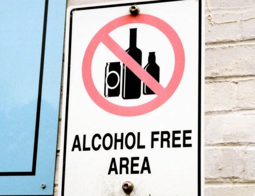 Alcohol Free Area Street Sign