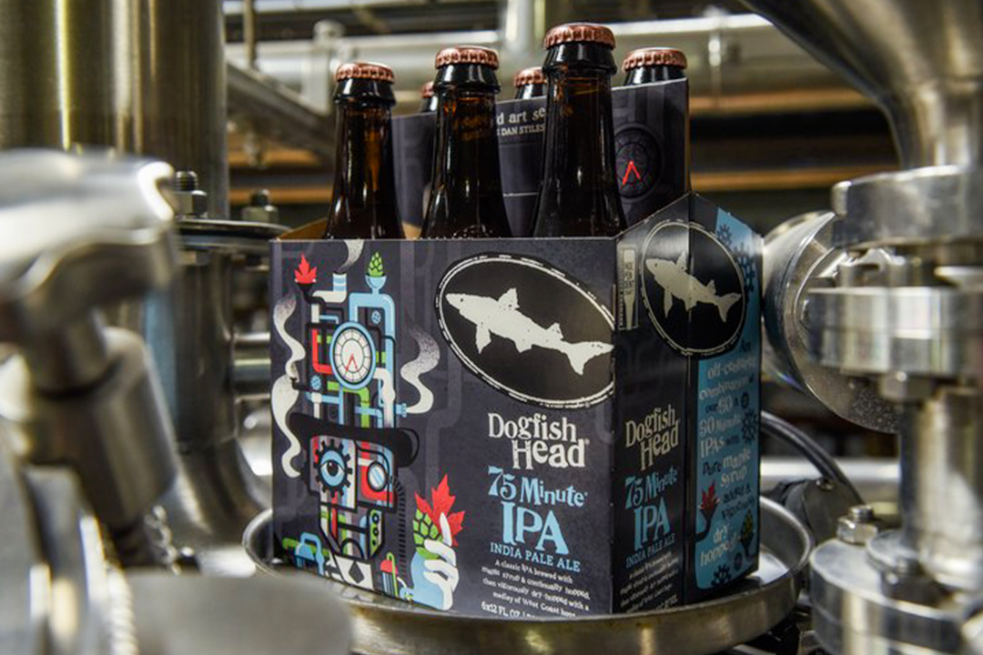 Dogfish Head 75 Minute IPA with art by Dan Stiles