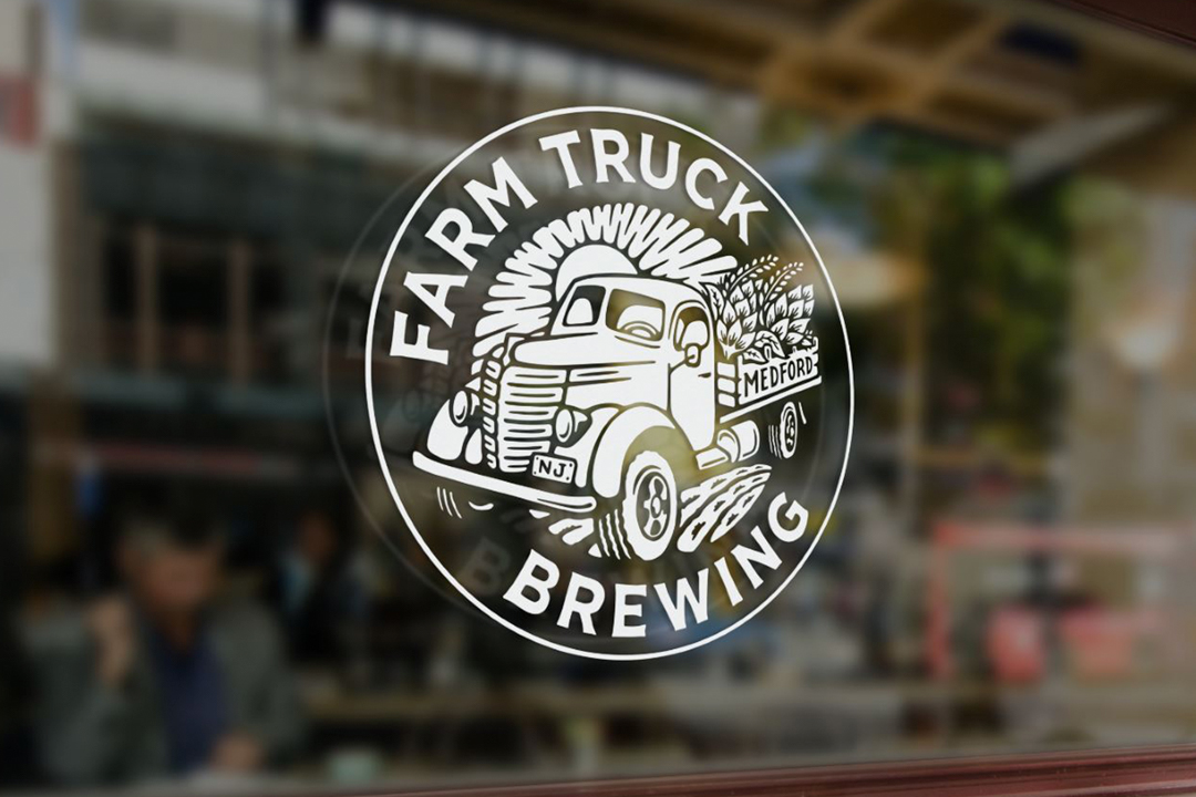 Farm Truck Brewing Logo on Window
