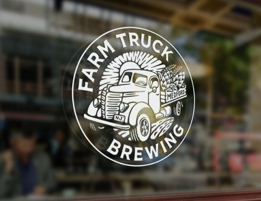 Farm Truck Brewing Logo on Window