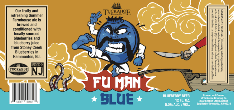 Tuckahoe Brewing Co. FU Man Beer Label