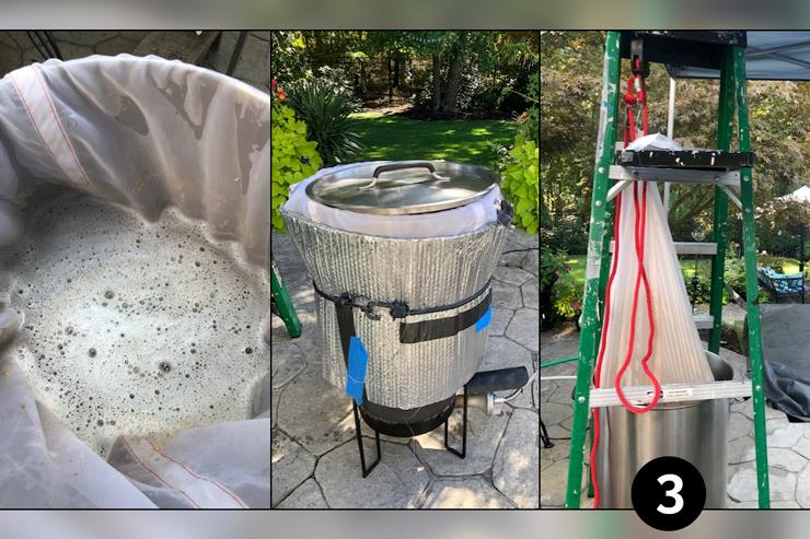 Brew in a Bag (BIAB) - Step Three: Draining the Brew Bag