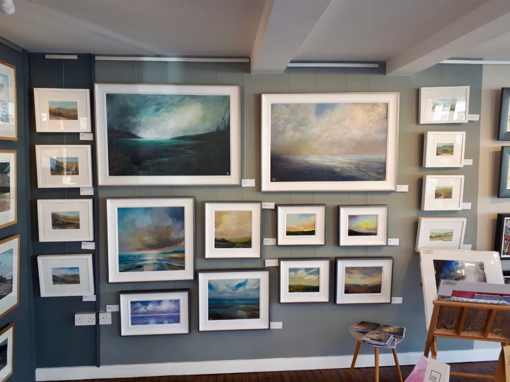 Sarah Jane Brown paintings at Oriel Coffi