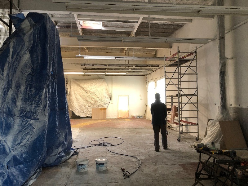 Painting progress at the new studio…!
