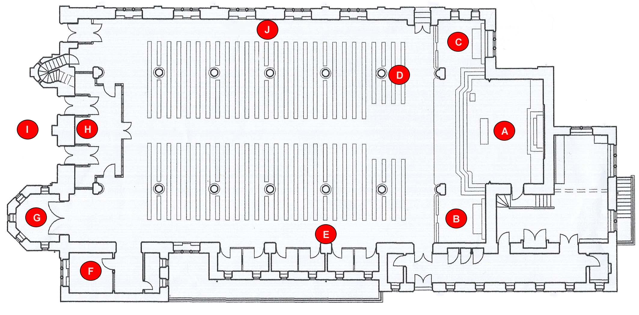 catholic church structure diagram ishikawa fishbone template of as a cross areas elsavadorla