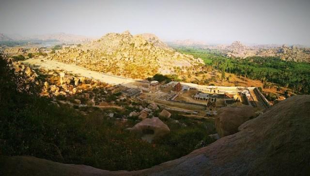 Temple complex at Hampi