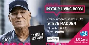 Book Fest in Your Living Room: Steve Madden, Sept 16