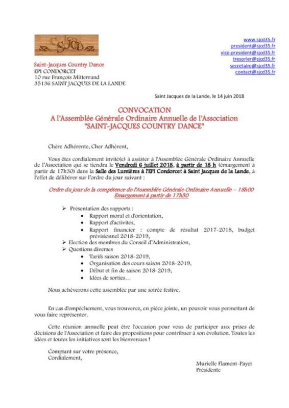 2018_06_14 CONVOCATION & POUVOIR AG 06 07 2018