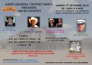 Les playlists de l'après-midi des 10h de Country de Saint Jacques Country Dance du 1er décembre 2018 sont fraîchement sorties!!!