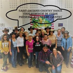 Read more about the article SAINT JACQUES COUNTRY DANCE VOUS REMERCIE DE VOTRE PRÉSENCE LORS DE LA DEUXIÈME EDITION DES 10h DE COUNTRY