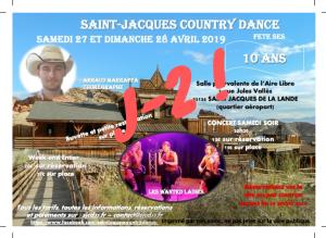 J-2… les dernières infos pour faire la fête ensemble pour les 10 ans de SAINT-JACQUES COUNTRY DANCE…