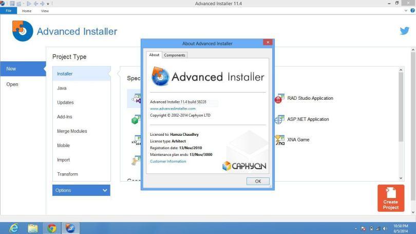 Advanced Installer Architect 13.8 + Crack & Patch Full
