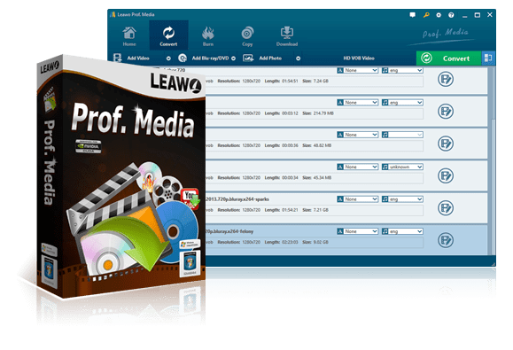 Leawo Prof. Media 8.1.0.0 Crack + Registration Code [Mac + Windows]