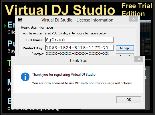 Virtual DJ Studio 7.8.2 Crack + Serial Key 2017 [Upgraded]