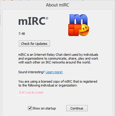 mIRC 7.52 Crack Incl Registration Code Free Download