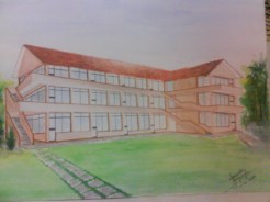 The First Drawing of the Building by one of our student Nishantha Jayasinghe