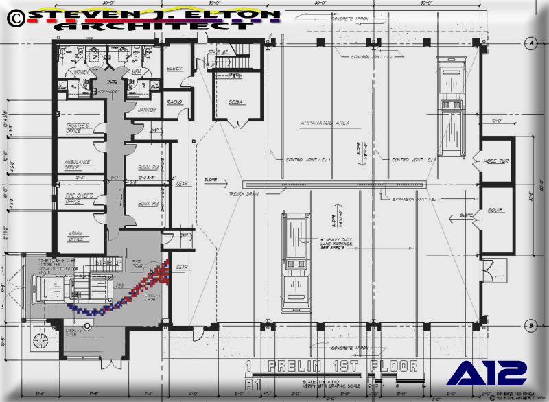 Fire Ambulance Station Design First Floor Plan