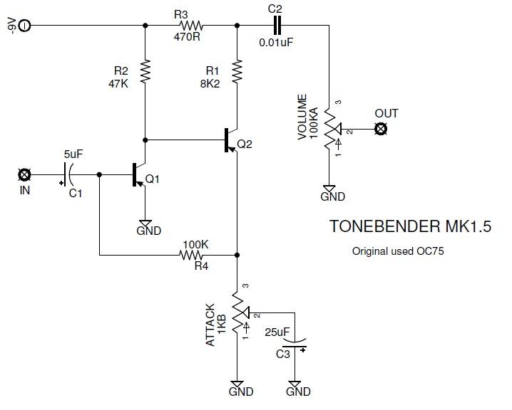 fuzz face wiring diagram doctor tweek v2 volkswagen golf mk1 custom pedal mark 1 5 colorsound