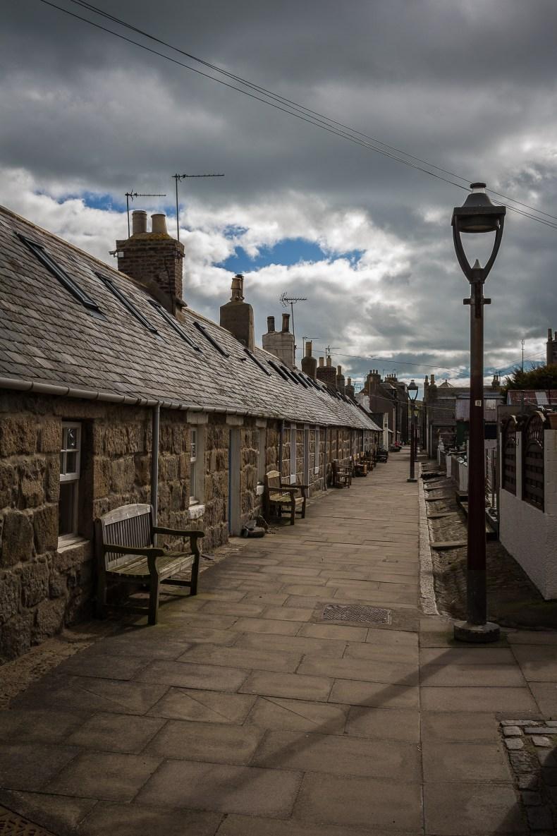 Fishing Village of Footdee (Fittie) in Aberdeen, Scotland, UK.