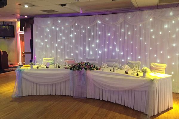 fairy lit backdrop