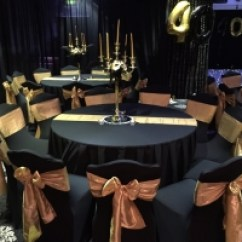 Gold Chair Covers With Black Sash Posture Balance Seat And Sashes Sj Enterprises Make