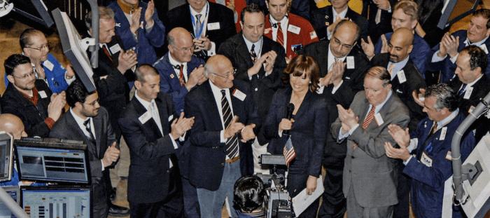 Susan Lisovicz at the NY Stock Exchange