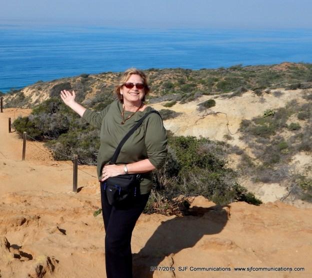 Susan at Torrey Pines State Reserve