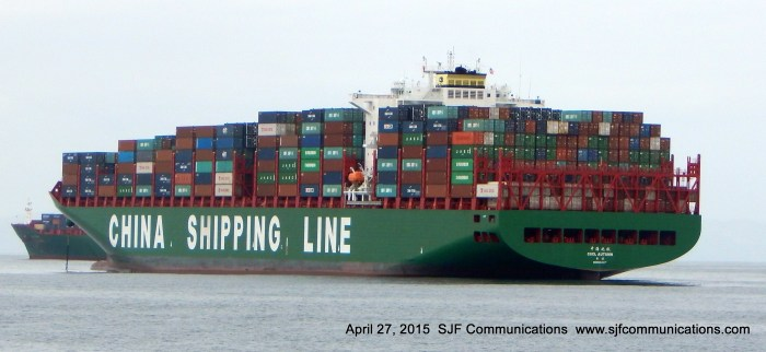 Passing by Cargo Ship