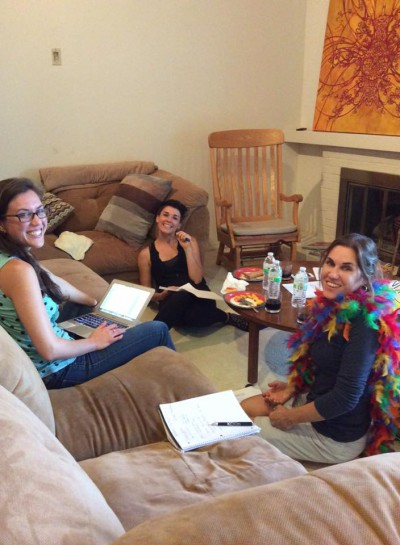 Down Stage WRiting Team Left to right: Talia, Holly Rone, Sariann MOnaco