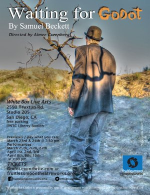 Waiting for Godot; Flyer Image by Debbie Prince; Graphics by Yara Bertran